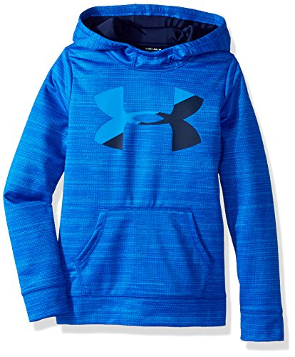 Under Armour Girls' Armour Fleece Big Logo Novelty Hoodie, Lapis Blue/Mako Blue, Youth Medium (Big Logo Fleece Hoodie)
