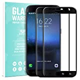 Galaxy S7 Screen Protector, SAVFY 2-Pack Ultra Lightweight Premium Tempered Glass Screen Protector Film for Samsung Galaxy S7 - 2.5D Ultra HD Clear Anti-Scratch Full Coverage Screen Protector Black