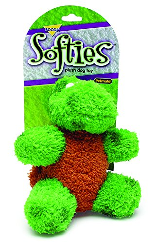 - Booda Corporation (Aspen) DAP53512 Softies Toby Turtle Pet Toy, Medium