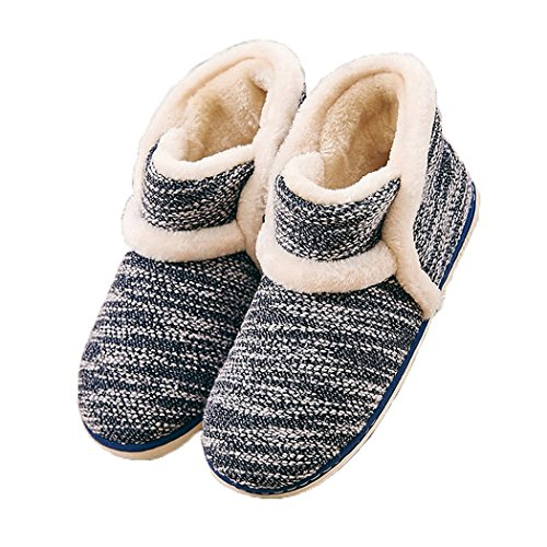 (Winter Vintage Boot Slippers Arctic Solid Indoor Dark Blue 11 B(M) US)