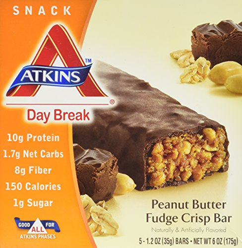 Atkins Day Break Peanut Butter Fudge Crisp Bar, 5 Count