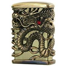 ZIPPO Oil lighter Celestial Dragon Brass Gold Full Metal Jacket