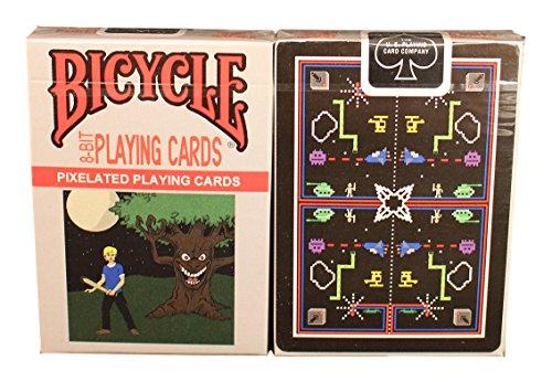 Bicycle 8-bit Black Playing Cards price