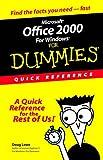 Microsoft Office 2000 for Windows for Dummies, Doug Lowe, 0764504533