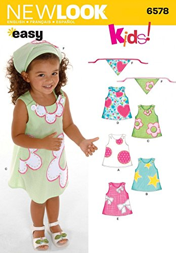 New Look Sewing Pattern 6578 - Toddler Dresses Sizes: A (1/2,1,2,3,4 ...