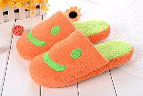 Totoro: Dust Bunny - Makkurokurosuke- Slippers (Pair) Orange 0qujnGwW