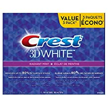 Crest 3D White Radiant Mint Whitening Toothpaste, 100 ml Triple Pack