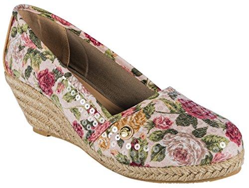 Gosch Sylt, Scarpe col tacco donna multicolore Rosa/Beige, multicolore (Rosa/Beige), 40 EU