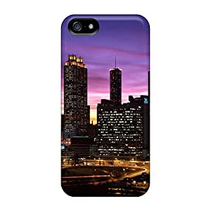 CalvinDoucet Cases Covers Protector Specially Made For Iphone 5/5s Atlanta Skyline At Sunset Georgia