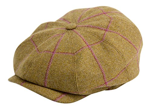 Gamble & Gunn Argyle' British Made Tweed 8 Panel Button Top Cap (61cm) (Argyle Hat Wool)