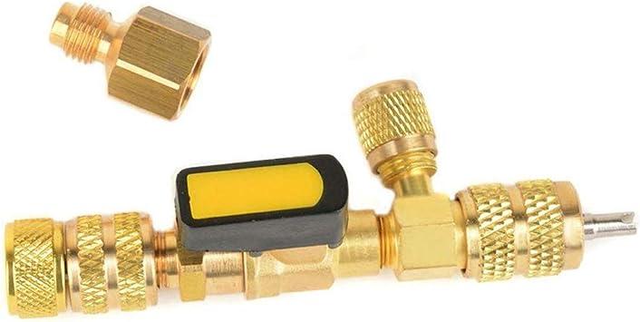 Ventileinsatz Coolants Ersatzwerkzeug Ventilinnen Laden Und Entladen Von Werkzeugen Coring Werkzeuge 1 430 Kälte Changer Ventil Element Remover Installationswerkzeuge Auto