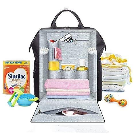 Mochila de Viaje Impermeable multifunci/ón Mickey Mouse Bolsas para Cambiar pa/ñales para beb/és de Maternidad Mochila para pa/ñales