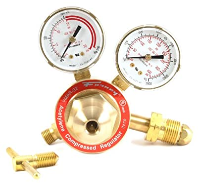 Forney 87091 Acetylene Regulator, Medium Duty, Victor Style