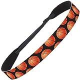 Hipsy Adjustable No Slip Basketball Headbands for Women Gift Packs (Wide Black)