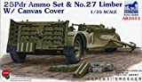 25 35 ammo - Bronco 1:35 25 Pdr Ammo Set & No.27 Limber w/ Canvas Cover Plastic Kit #AB3551