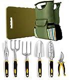 8 Piece Garden Tools Set-Complete Set of Outdoor Gardening Tools Including ...