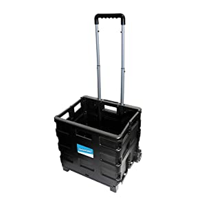 Silverline 633400 Folding Crate Box Trolley 25kg Load Capacity
