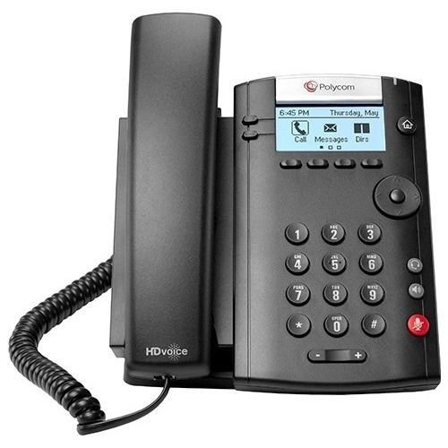 Polycom 201 Ip Phone - Cable - Desktop, Wall Mountable - 2 X Total Line - Voip - Caller Id - Speake (Line Voip Desktop Phone)