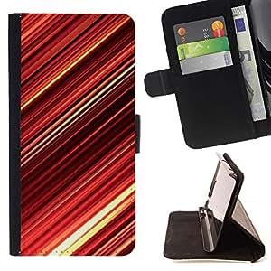 Momo Phone Case / Flip Funda de Cuero Case Cover - Red Abstract Stripes - LG G4
