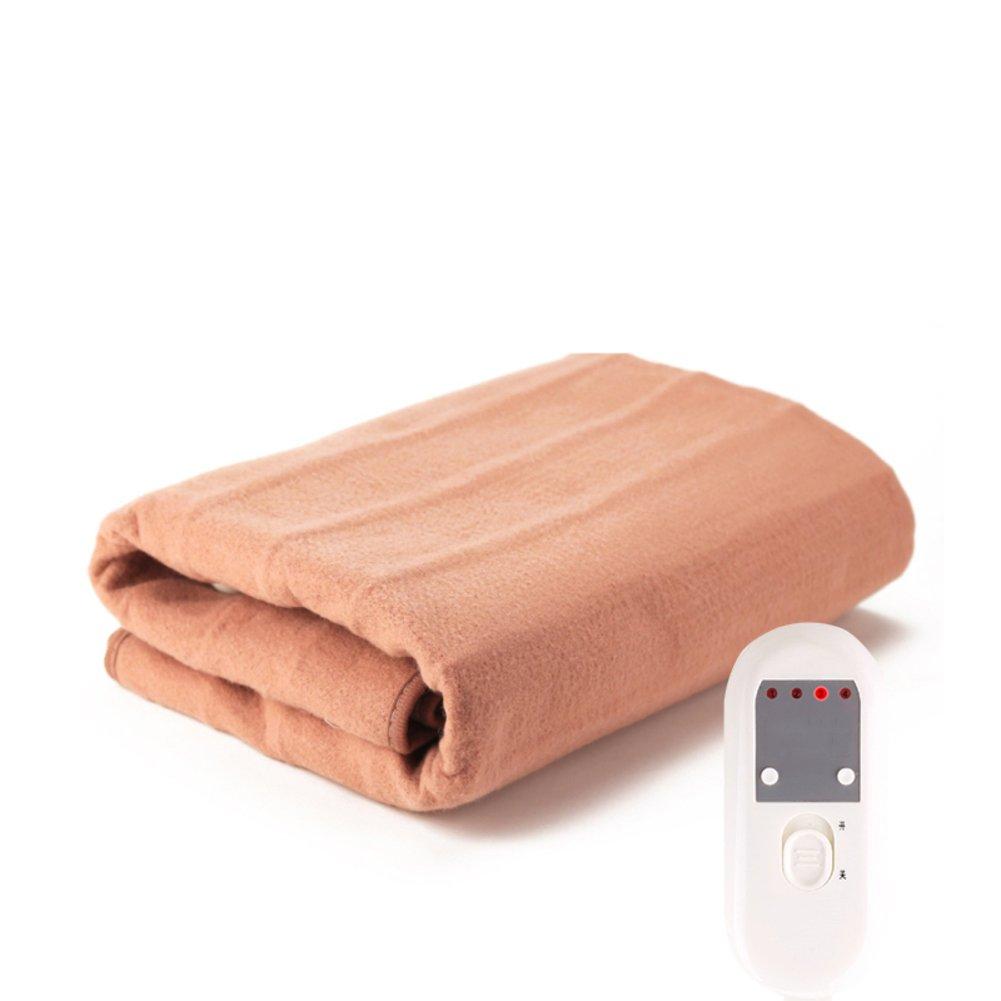 Almohadilla eléctrica,Manta eléctrica Termostato Seguridad] Impermeable] Estudiante Dormitorio Uso doméstico Frazada eléctrica Manta termica electrica-C ...