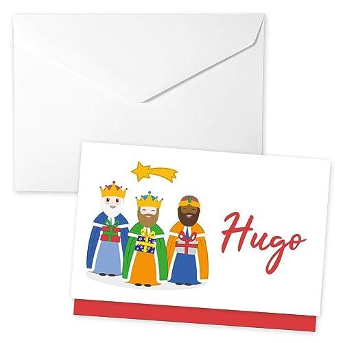Postal de Navidad. Sobre para regalar dinero con los tres Reyes Magos