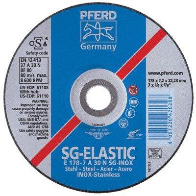 Type 27 PFERD 61100 Performance line SG Grinding Wheel Premium Aluminum Oxide 3//8 Arbor Hole 4 Diameter x 1//4 Thickness 15300 RPM