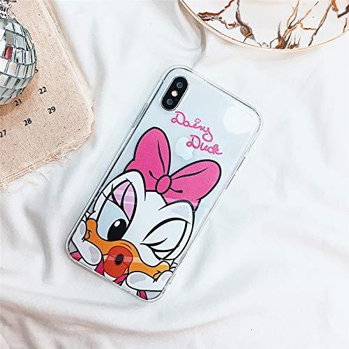 Disney Princess Womens Eyeglasses - Cartoon - Disneys Minnie Mickey Transparent Case for iPhone 8 8plus 7 7 Plus Phone Cases Clear for iPhone 6 s 6s Plus X XR XS Max Cases - by Alberttom - 1 PCs