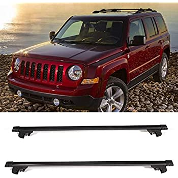 Fit For 07-15 Jeep Patriot OE Style Roof Rack Cross Bar Crossbar Black ABS