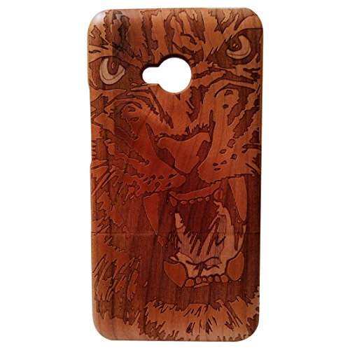 - Deluxe Cherry Wood 100% Natural Wood Case Laser Engraving Tiger HTC One M7 Wood Cover Skin for HTC One M7 Wood Cases Skins Cover