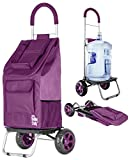 dbest products Carrito de la Compra Dolly para la Compra, Sólido, Púrpura, 1