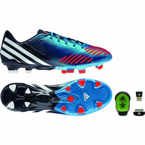 adidas Performance, Scarpe da calcio uomo blau / weiß / neonrot 8,5 UK - 42,2 / 3 EU