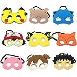 9 Cartoon Hero Party Favors Dress Up Masks Costumes Set of 9