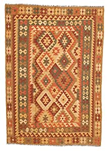 Alfombra kilim afghan old style 144x204 alfombra oriental - Alfombras comedor amazon ...