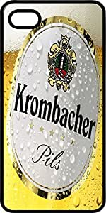 Krombacher Beer Glass Black Plastic Case for Apple iPhone 5 or iPhone 5s