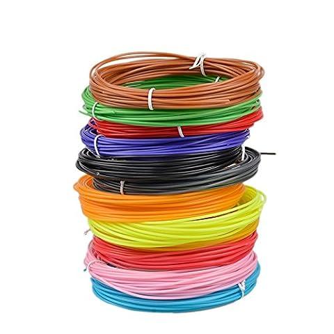 3D Pen Filament Refills, Aitmexcn 1.75mm ABS 328 Linear Feet Total of 20 Different Colors (16 feet each) for 3D Pen or 3D Printer DIY - 16 Linear Feet