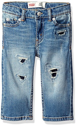 Levi's Baby Boys' 511 Slim Fit Jean with Backed Destruction