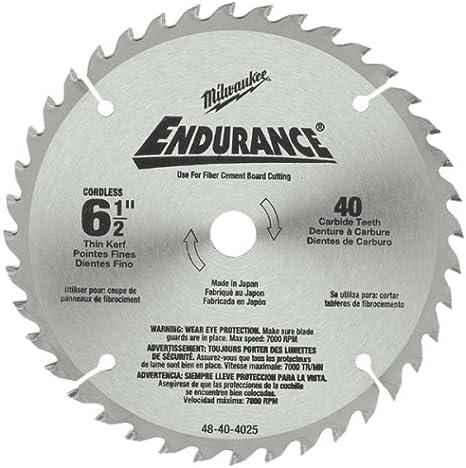Concord Blades MCB0650T040HP 6-1//2-Inch 40 Teeth TCT Ferrous Metal Cutting Blade