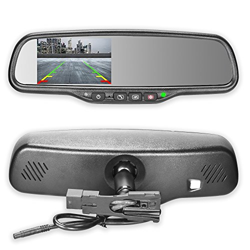 Master Tailgaters OEM Rear View Mirror with 4.3″ Auto Adjusting Ultra Bright LCD and OnStar Buttons(for backup cameras) – Connects To Your Existing OnStar Wiring For Sale
