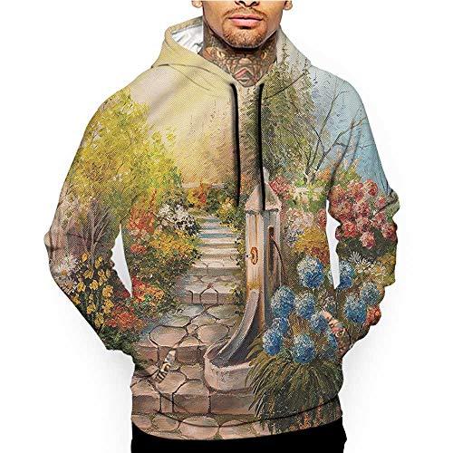 Hoodies Sweatshirt Pockets Flower,Floral Pattern with Rose,Zip up Sweatshirts for Women