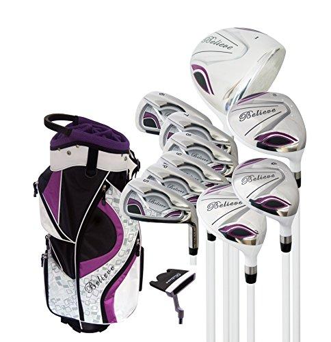 Believe Founders Club Ladies Complete Golf Set - Purple - Right-Handed