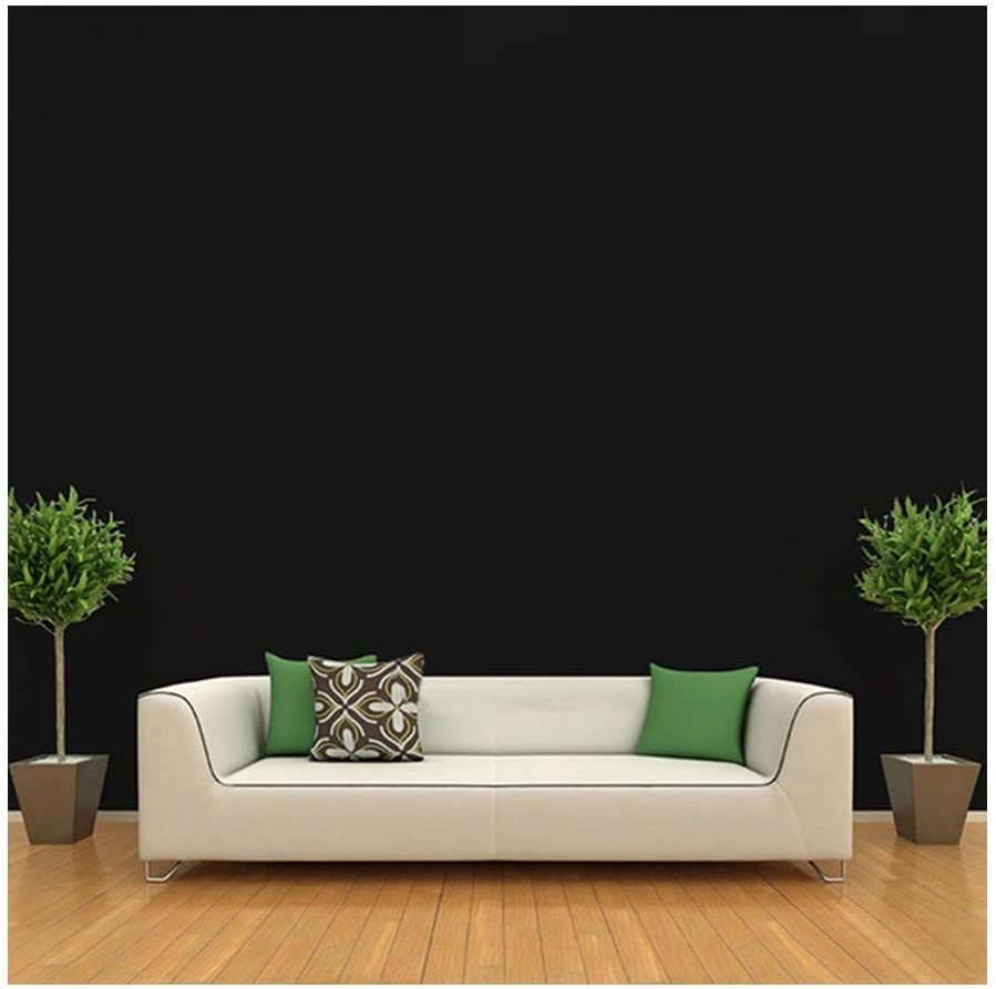 Waterproof Self Adhesive Wallpaper Stick And Peel Wallpaper Black Effect Wall Decoration For Furniture Bedroom Living Room Office 17 7 X 393 Inch Black Amazon Com
