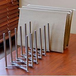 Adjustable Table Desk Top File Magazine Holder Stacking Sorter 8 Sectional Extends up to 28\