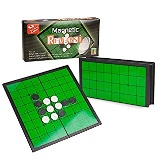 STERLING Games Reversi Othello Strategy Board Game 9.75 Inch Board with Folding Magnetic Board and Pieces for Home and Travel