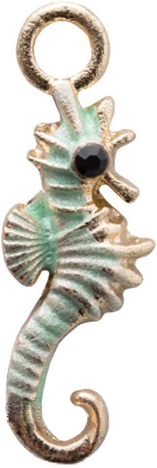 AchidistviQ 10 Piezas/Set de Collar de Caballo de mar DIY Pulsera Colgante joyería Accesorios