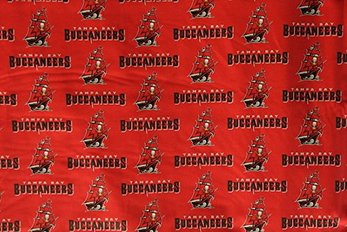 (Tampa Bay Buccaneers Football Red Sheeting Fabric Cotton 4 Oz 44-45