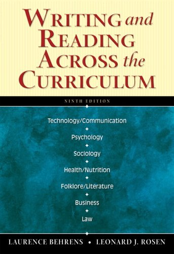 Writing and Reading Across the Curriculum (with MyCompLab) (9th Edition)