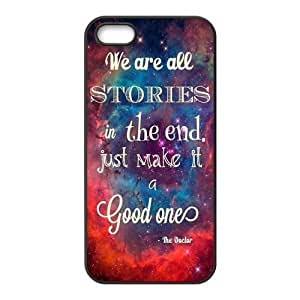 iPhone 5S Protective Case - Dr.Who Quotes Hardshell Carrying Case Cover for iPhone 5 / 5S