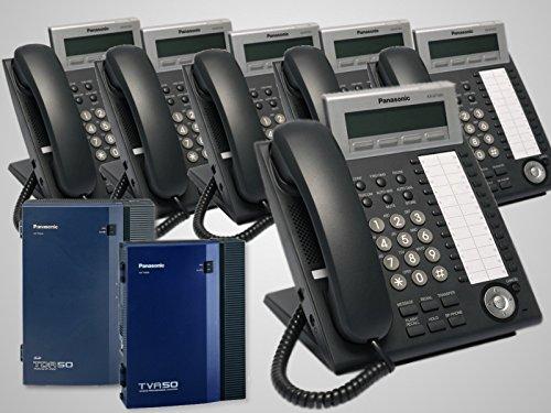 Panasonic KX-TDA50G Hybrid Phone System + KX-TVA50 Voice Mail + 6 Panasonic KX-DT343B Phones