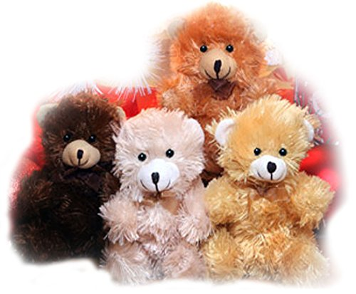 (Fuzzy Friends Plush Sitting Bears, 9