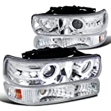 Spec-D Tuning 2LBLHP-SIV99-RS Chrome Projector Headlight (Combo Housing With Bumper Light)